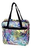 Borsa multicolore palme INVICTA 3 in 1 mini rover smart shoulder & shop zaino borsa tracolla 33x33x9,5cm borsa a mano spesa leggera bagaglio aereo 9/10 litri tracolla regolabile tasca frontale