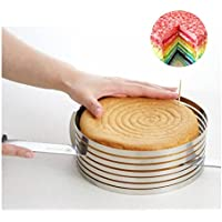 Somore Mousse Anello torta strato affettare Cutter Mould in Acciaio