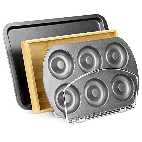 Vassoio da cucina e portavetrini da cucina | Tagliere, Organizer per teglie da forno | Supporto verticale cromato | M & W