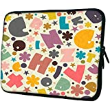 """Snoogg Crazy Alphabets 15"""" 15.5"""" 15.6"""" Inch Laptop Notebook Slipcase Sleeve Soft Case Carrying Case For MacBook Pro Acer Asus Dell Hp Sony Toshiba"""