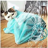 Peng Sheng - Bolsa de Aseo para Gatos para Bañar Uñas, Limpiar los Oídos y Tratar Las Orejas, Bolsa de Malla de poliéster Libre de Arañazos