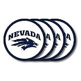 Duck House Vinyl (4Stück) Univ von Nevada Reno Untersetzer 4er Set, Weiß, 1 Stück
