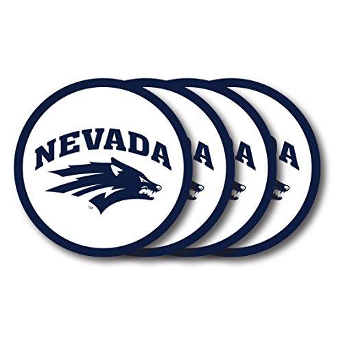Duck House Vinyl (4Stück) Univ von Nevada Reno Untersetzer 4er Set, weiß, 1 Stück Wolf Coaster Set