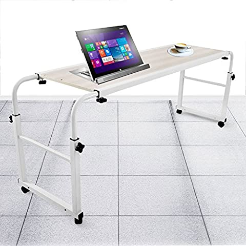 Chaneau Table De Lit Sur Roulettes 1,2M Table Lit Ordinateur Overbed Table Laptop Stand (1,2M)