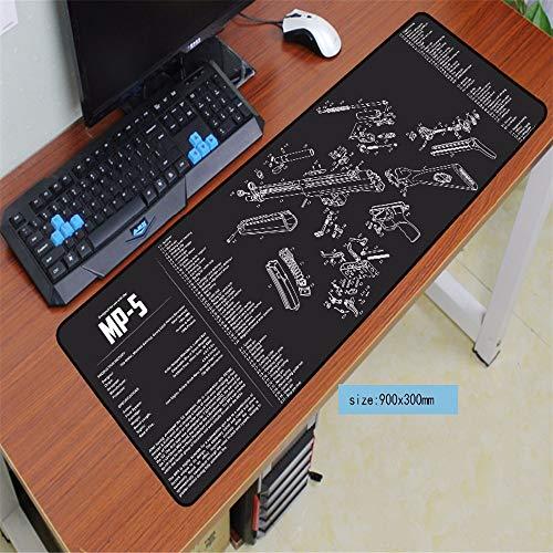 Weiße und Schwarze Wolf-Mausunterlage Qualitätsauflage Computer-Büro-Tastatur ultradünne Tabellenauflage Mausunterlage 4 900x300x2