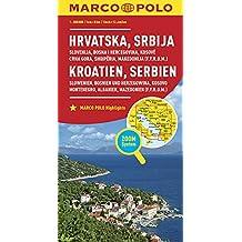 MARCO POLO Länderkarte Kroatien, Serbien, Bosnien und Herzegowina 1:800 000: Slowenien, Kosovo, Montenegro, Albanien, Mazedonien (MARCO POLO Länderkarten)