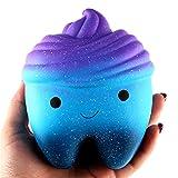 Kfnire jumbo luccicanti squishies slow kawaii squishies cream profumati per bambini e adulti (denti torta)