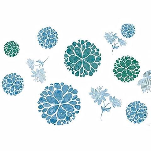 Huihong Wandaufkleber Wandtattoo Wandsticker , DIY Blumenkugel Selbstklebend Dekorativ Kreatives Schlafzimmer Tapete