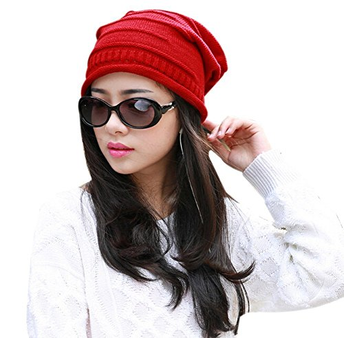 tininna-winter-warm-knitted-knit-slouch-beanie-beany-cap-hat-skull-cap-baggy-hat-for-women-girls-red