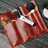 Demarkt Magic Pencil Case PU Leather Pen Bag Binding Pencil Holder with Three Folds Stationery Storage Bag