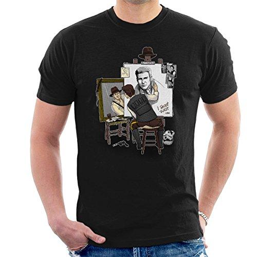 Harrison Ford Triple Hero Men's T-Shirt (Shirt Jones Indiana)