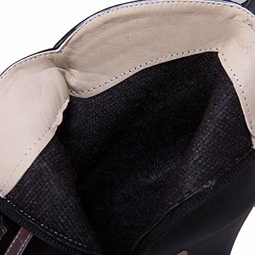MissSaSa Donna Scarpe col Tacco Alto Stivali Spicco e Moderno Nero