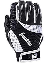 Franklin Sports MLB 2 nd-skinz guantes de bateo, Unisex, negro/blanco