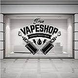 Mur créatif Boutique Mur Fenêtre Boutique Art Autocollant Autocollants Cigarette...