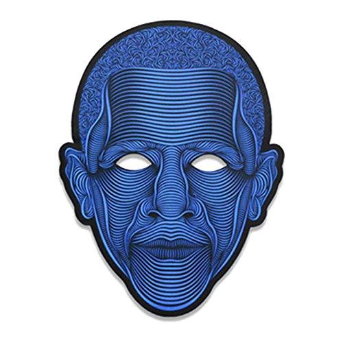 Louisa York LED Maske, Glowing Maske, LED-Licht bis Maske Halloween Kostüm für Festival, Cosplay, Halloween, Kostüm, Parteien, Cosplay Kostüm, 1Stück, Kunststoff, A8, 24x17cm