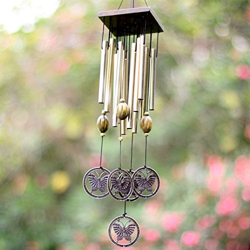 Sunfire scacciapensieri appeso Garden Decor Outdoor decorazione bronzo farfalla Tube 21 in
