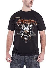 Venom T Shirt Pentagram Goat Skull Classic Band Logo offiziell Herren Nue