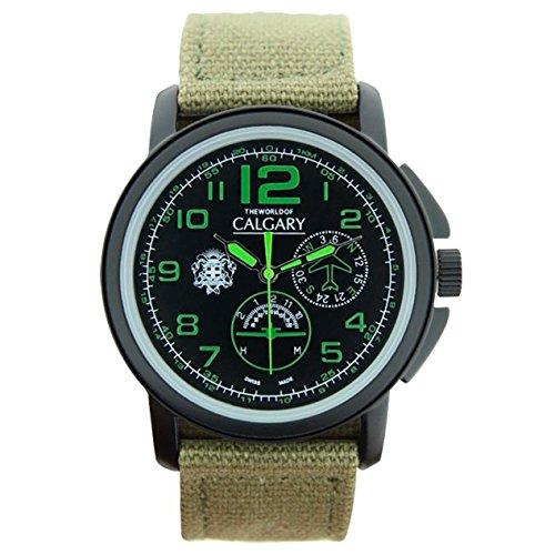army-relojes-calgary-de-color-verde-y-negro-reloj-de-hombre-con-correa-de-tela-ajustable-y-con-aguja