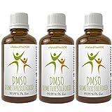 Sparpaket: DMSO Dimethylsulfoxid 3+1 gratis | 4 x 100 ml | 99,99 % (Ph. Eur.) | zertifiziert nach dem europäischen Arzneibuch | pharmazeutische Reinheit/Qualität | in Braunglas-Tropferflasche | Qualität: MADE IN GERMANY