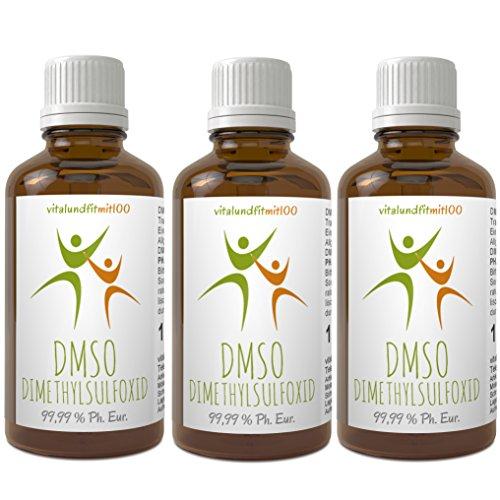 Sparpaket: DMSO Dimethylsulfoxid 3+1 gratis - 4 x 100 ml - 99,99 % (Ph. Eur.) - zertifiziert nach dem europäischen Arzneibuch - pharmazeutische Reinheit/Qualität - in Braunglas-Tropferflasche - Qualität: MADE IN GERMANY