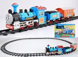 #1: Curtis Battery Operated Train Track Toy Set (11 Pieces)