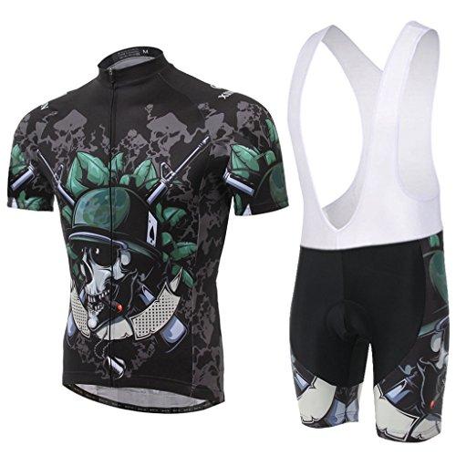 Skysper Hombres Jersey + Pantalones cortos Mangas cortas de Ciclismo R
