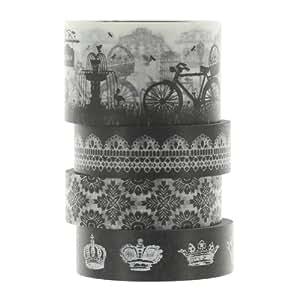 Washi Masking Tape BAROCK Klebeband 4er Set