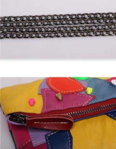 La Signora Spalla Mosaico Della Moda Retrò Messenger Bag Color