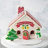 FEIDAjdzf Ausstechformen-Set für Kekse, Kuchen, Weihnachten, Haus, Schneemann, Kunststoff, Keksausstecher, Fondant, Kuchen, Backform weiß