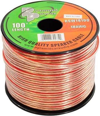 Pyramid RSW18100 18 Gauge 100 ft Zip Wire Speaker from Lanzar