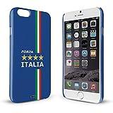 YOUNiiK Premium Case für Apple iPhone 6 / 6S - Fan Artikel Fußball Italien / Forza Italia - Handyhülle Cover in einzigartiger Qualität, randlos bedruckt und extrem kratzfest