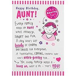 Hallmark Tante Geburtstagskarte 'With Badge'–Mittelgroß