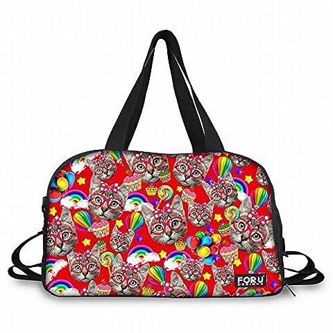thikin Glas Katze Animal Print Personalisierte Duffle Bag Sport Gym