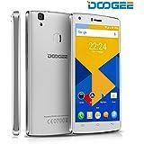 DOOGEE X5 Max Pro 4G Smartphone Débloqué ( Écran : 5 Pouces - 16 Go - Android 6.0 -Double SIM ) - Téléphones Portables Avec 8.0MP Appareil Photo - 4000mAh Batterie GPS Téléphone Mobile Empreinte Digitale - Blanc