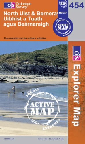 North Uist and Berneray/Uibhist a Tuathagus Bearnaraigh (OS Explorer Map Active)