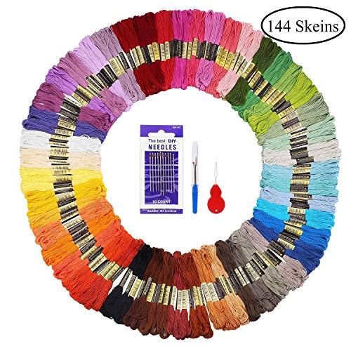 Madejas Hilos 144 Madejas 48 Colores Fuyit