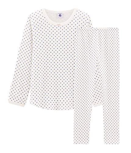 Petit Bateau Mädchen Pyjama_5003001 Zweiteiliger Schlafanzug, Mehrfarbig (Marshmallow/Major 01), 152 (Herstellergröße: 12ans/152cm)