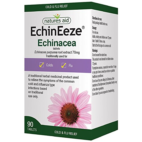 Natures Aid EchinEeze  70mg (Equivalent 460mg-530mg of Echinacea) - Pack of 90 Tablets Test