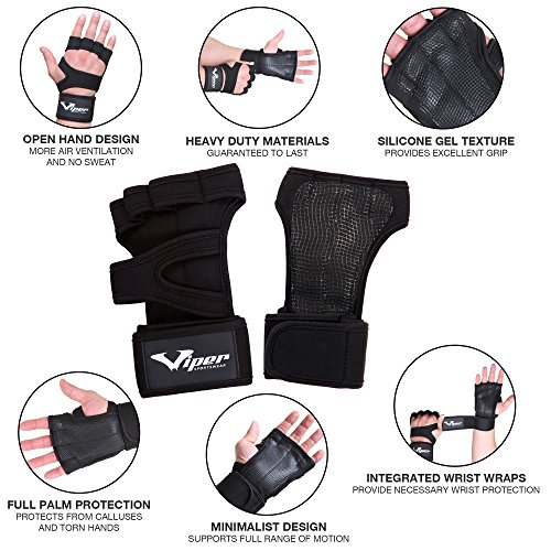 Crossfit-Gloves-Weight-Lifting-Hand-Grips-with-Wrist-Wrap-Support-Guard-WOD-Pull-Up-Bar-Gym-Workout-Fitness-Deadlift-Calisthenics-Gymnastic-Powerlifting-Training-Palm-Protector-Men-Women-M