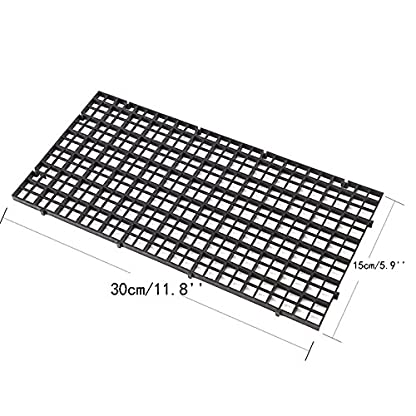 CCCYMM 4 Pcs Grid Divider Tray Egg Crate Louvre Aquarium Fish Tank Bottom Isolation,Black 6