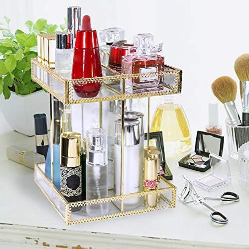 Explea Hochwertige Mode Home Style Europäischen Stil Hautpflegeprodukte Finishing Kommode Rack 360 Grad-umdrehung Make-Up Veranstalter Method