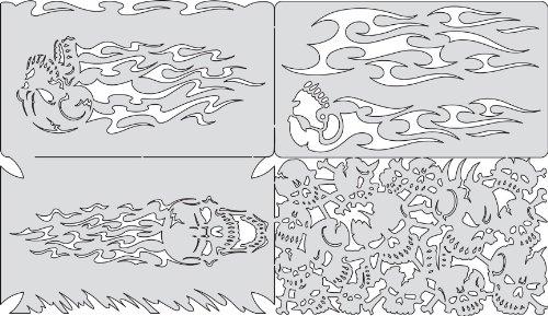 Unbekannt Artool Freehand Airbrush Vorlagen, Nano Serie