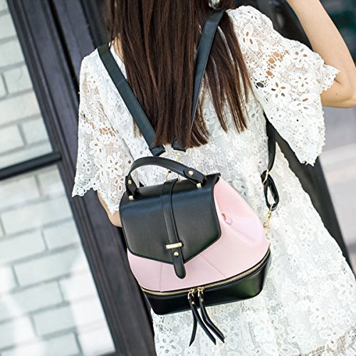 Zaino Collegio Mini Spalla Donne Signora Della Ragazza Di Corsa Di Modo Di Crossbody Bag Multicolor Pink