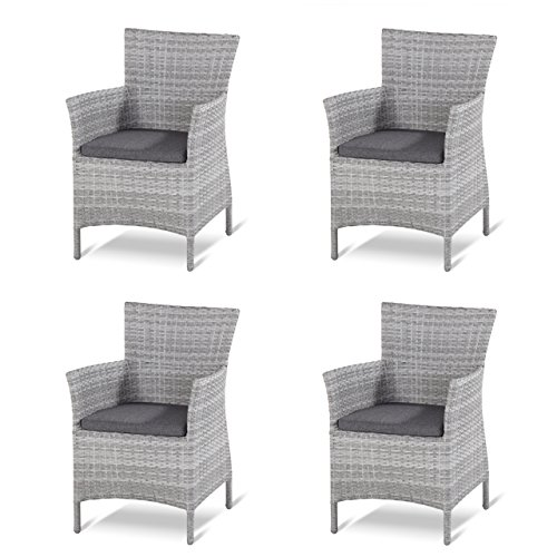 4 Stück Hartman Dining Chair Java Loungesessel royal grey flat ...