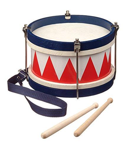 new-classic-toys-2042897-percussion-tambour-de-fanfare-en-bois-avec-systeme-de-reglage