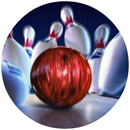 Tortenaufleger Tortenfoto Aufleger Foto Bild Bowling rund ca. 20 cm (3) *NEU*OVP