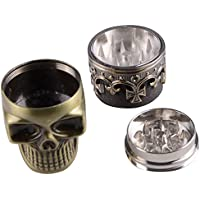 Grinder & # xFF0C; muitobom King Teschio 3strati in metallo Tabacco Grinder Erbe fumo Macine mano magnetico
