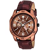 #10: Eddy Hager Brown Day & Date Watch - for Men EH-144-BR