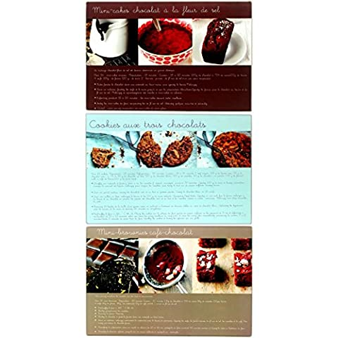 Promobo Set Pack 3 Sheets A Delicious Recipe Patisserie Design Glass 40 x 30 cm