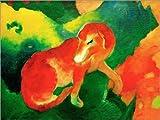 Posterlounge Alu Dibond 130 x 100 cm: Roter Hund von Franz Marc/akg-Images